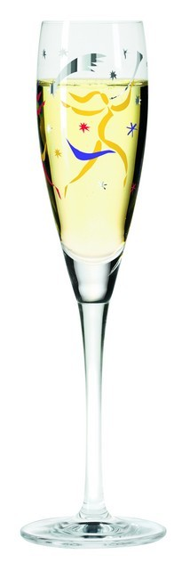20 Years Of Art Prosecco Glass