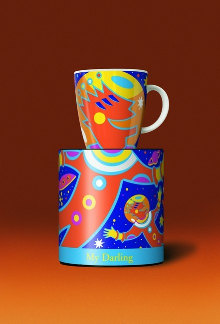 Autumn My Darling Spaceman Coffee Cup