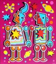 Space Robot Lovers (Magenta Version)