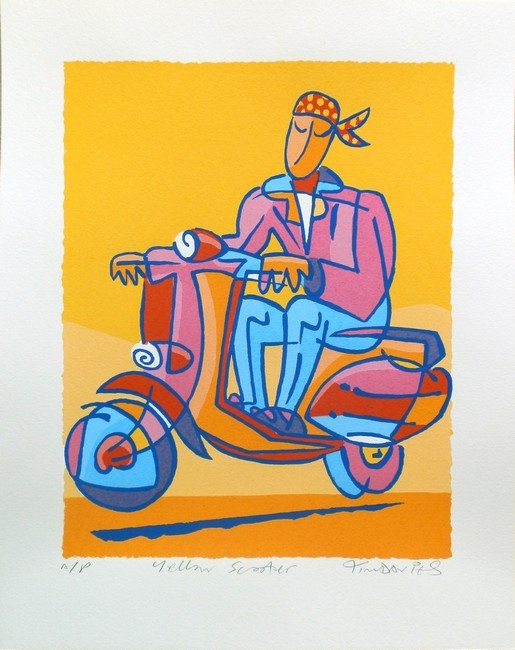 Yellow Scooter Screenprint