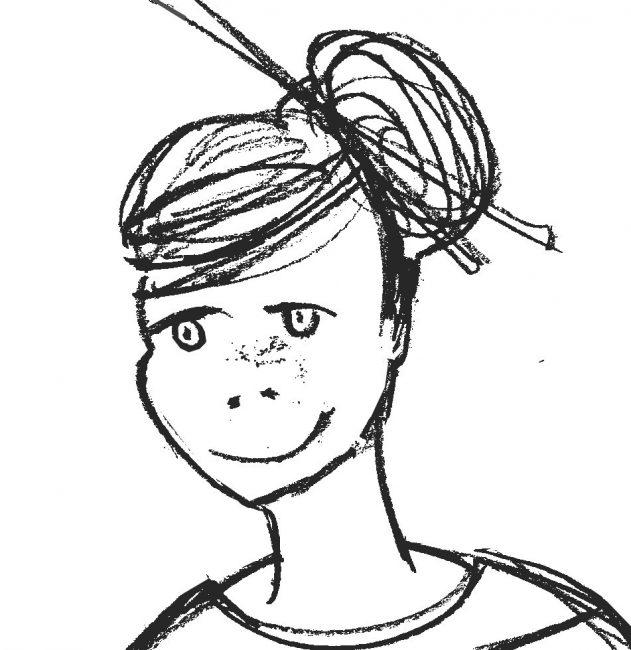 POP ART Girl sketch