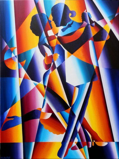 Tango Dancers (Red Version)