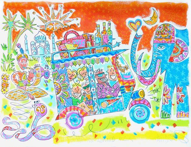 Tuk Tuk Around India (Orange Version)