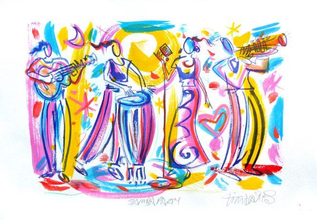 Samba Party skizze a
