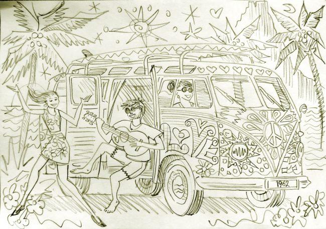 Beach Party sketch a