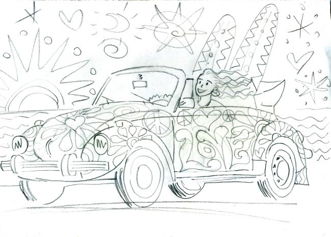 Love Bug original skizze 1 a